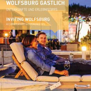 """Das Bild zeigt das Titelbild der Broschüre Hotelführer """"Wolfsburg Gastlich 2021"""""""