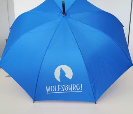 Stockschirm Wolfsburg, blau