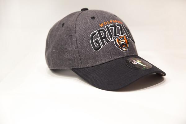 Das Foto zeigt ein Cap von den Grizzlys Wolfsburg in der Farbe anthrazit.